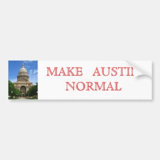 Make Austin Normal Bumper Sticker