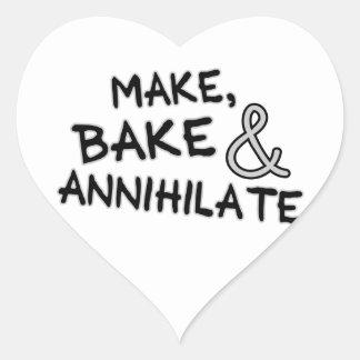 Make Bake Annihilate Heart Sticker
