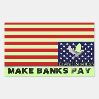 Make Banks Pay Rectangular Sticker