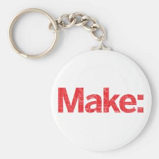 Make Basic Round Button Key Ring