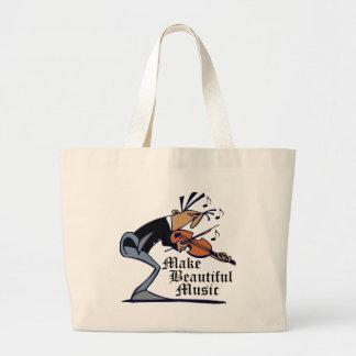 Make Beautiful Violin Music Tote Bag