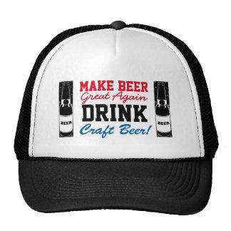 Make Beer Great Again Drink Craft Beer RWB Cap