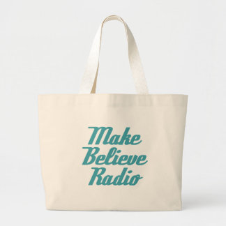 Make Believe Radio Aqua Lettering Tote Bag