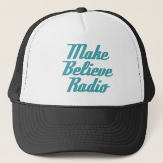 Make Believe Radio Aqua Lettering Truckers Cap