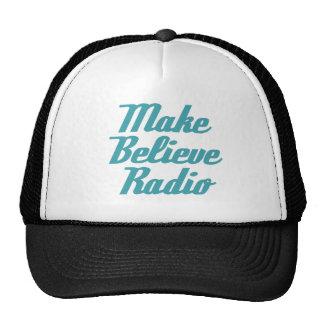 Make Believe Radio Aqua Lettering Truckers Cap