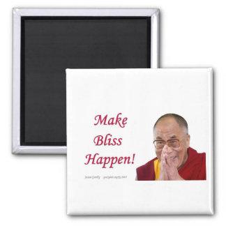 Make Bliss Happen! Square Magnet
