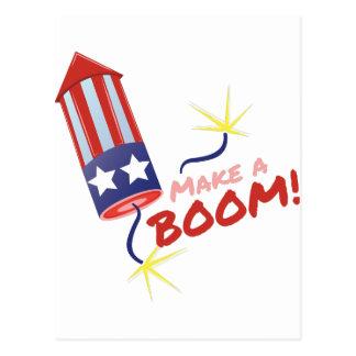 Make Boom Postcard