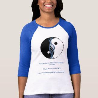 """Make BPD Stigma-Free!"" Logo Baseball Jersey T-Shirt"