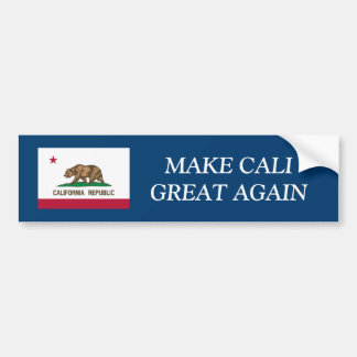 MAKE CALIFORNIA GREAT AGAIN funny bumper stickers