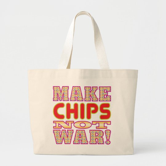 Make Chips v2 Large Tote Bag