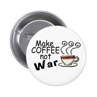 Make Coffee Not War 6 Cm Round Badge