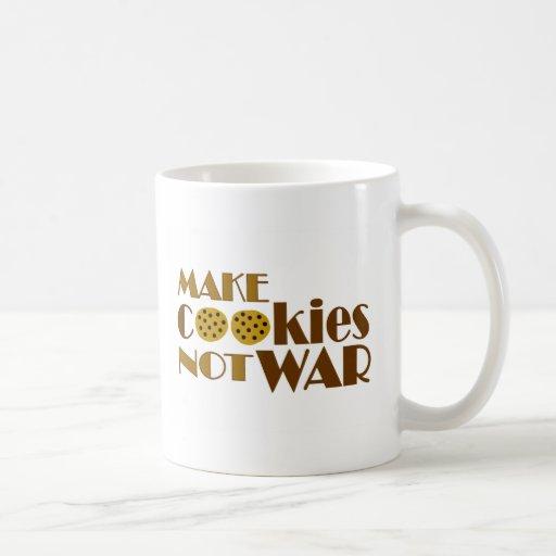 Make Cookies Not War Coffee Mugs