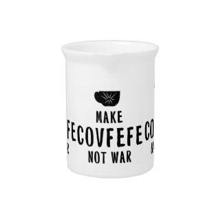 make covfefe not war beverage pitcher