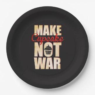 Make cupcake not war paper plate