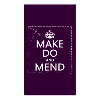 Make Do and Mend (all colors) Pack Of Standard Business Cards