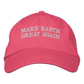 MAKE EARTH GREAT AGAIN - MEGA EMBROIDERED HAT