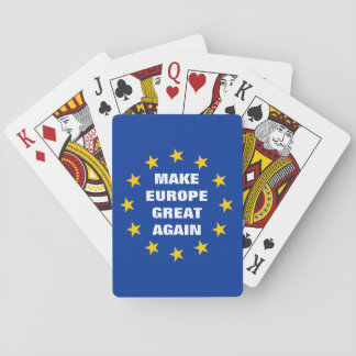 Make Europe Great Again Euro flag deck of Playing Cards