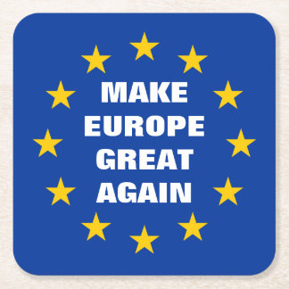 Make Europe Great Again Euro flag drink coasters