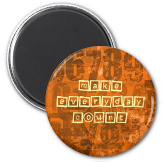 Make Every Day Count with Old Grunge Numbers 6 Cm Round Magnet