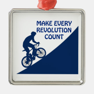 Make every revolution count christmas ornament
