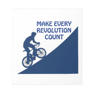 Make every revolution count notepad