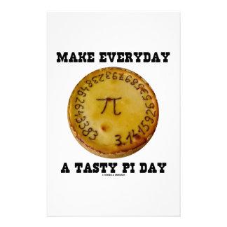 Make Everyday A Tasty Pi Day (Pi On Baked Pie) Stationery