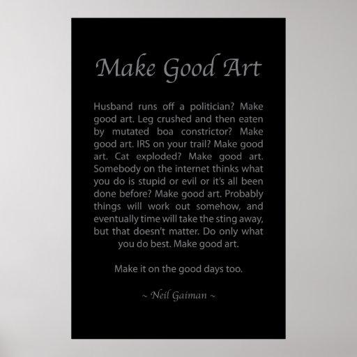 Make Good Art Poster