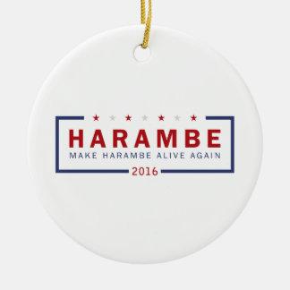 Make Harambe Alive Again Round Ceramic Decoration