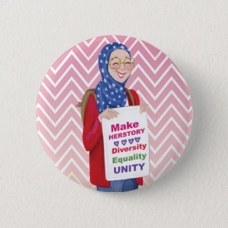 Make HERstory 6 Cm Round Badge