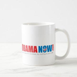 Make history Elect Obama Now. Basic White Mug