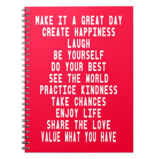 Make It A Great Day Graphic Design By Artinspired Note Books