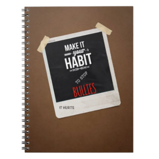 MAKE IT A HABIT BULLYING Notebook