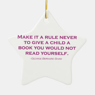 Make It A Rule Never To Give A Child A Book Christmas Ornament