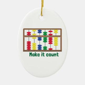 Make It Count Ceramic Oval Decoration