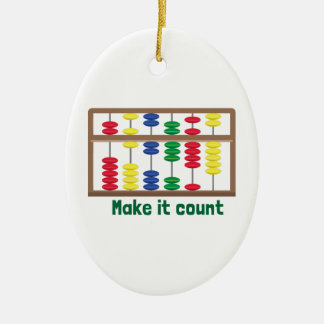 Make It Count Christmas Ornament