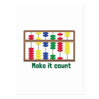 Make It Count Postcard