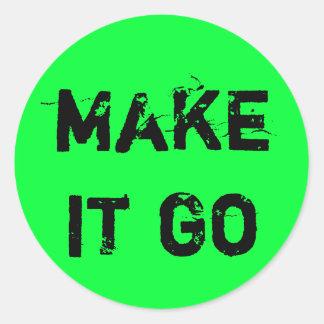 Make It Go! Round Sticker