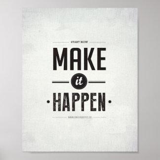 Make it Happen - 8 x10 Art Print