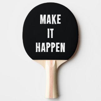 Make It Happen Black Ping Pong Bat