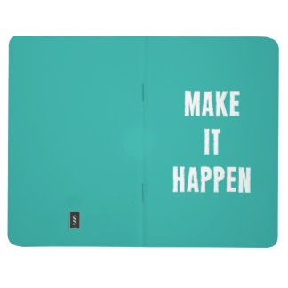 Make It Happen Motivational Quote Journal Turquois