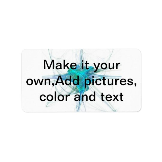 Make it your own,Add pictures, colour and text Address Label