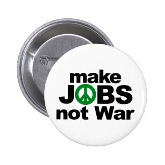 Make Jobs, Not War 6 Cm Round Badge