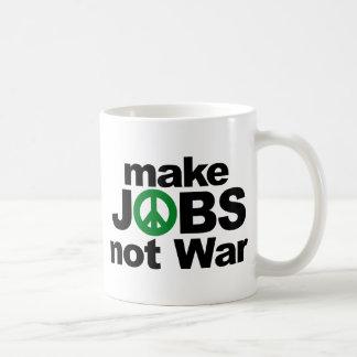 Make Jobs, Not War Coffee Mug