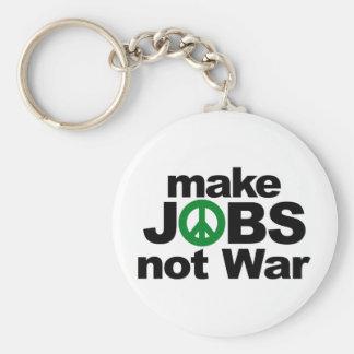 Make Jobs, Not War Key Chain