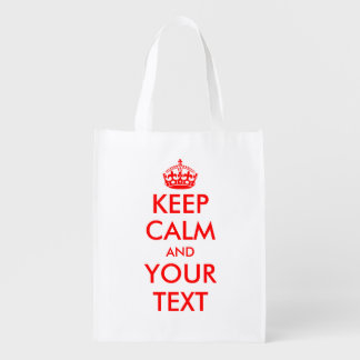 Make Keep calm and your text reusable shopping bag