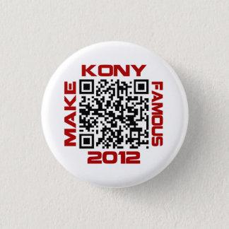 Make Kony Famous 2012 Video QR Code Joseph Kony 3 Cm Round Badge
