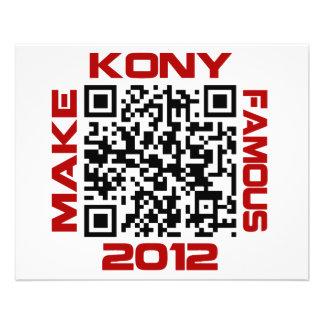 Make Kony Famous 2012 Video QR Code Joseph Kony Flyer