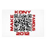 Make Kony Famous 2012 Video QR Code Joseph Kony Customised Stationery