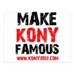 Make Kony Famous - Kony 2012 Postcards