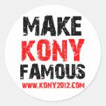 Make Kony Famous - Kony 2012 Round Sticker